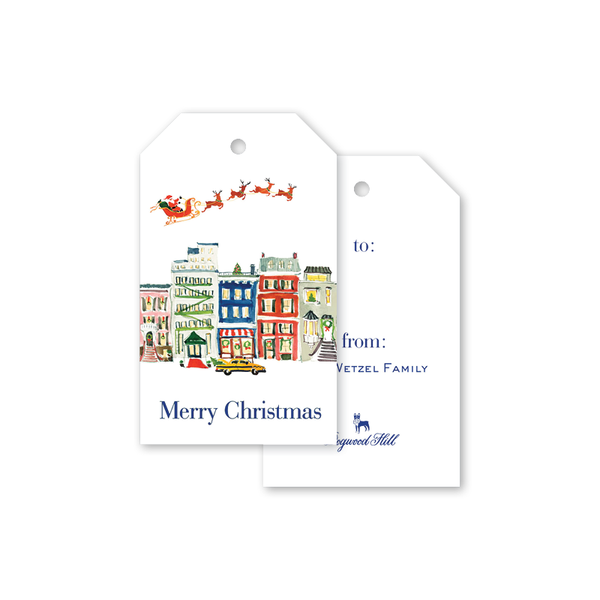 City Sleigh Ride Gift Tags