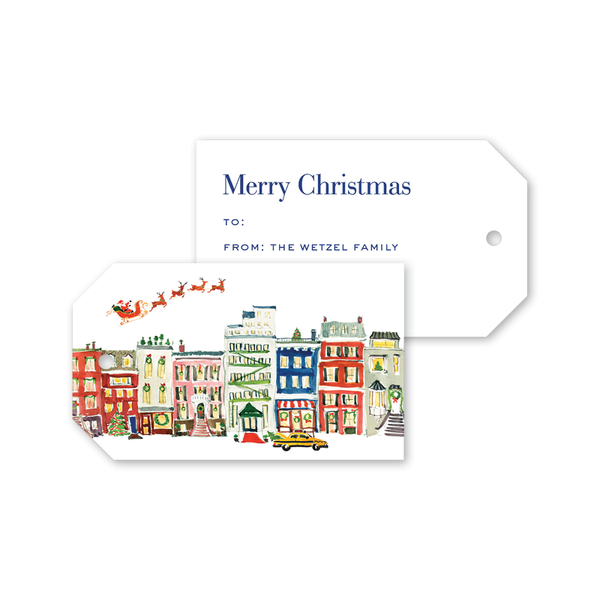 City Sleigh Ride Landscape Gift Tags