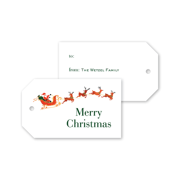 City Sleigh Ride Santa Gift Tags