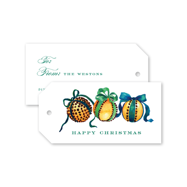 Clove Oranges Gift Tags