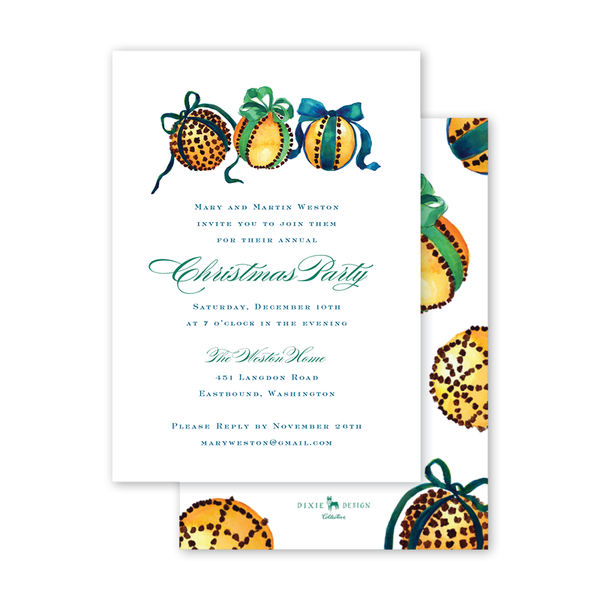 Clove Oranges Invitation