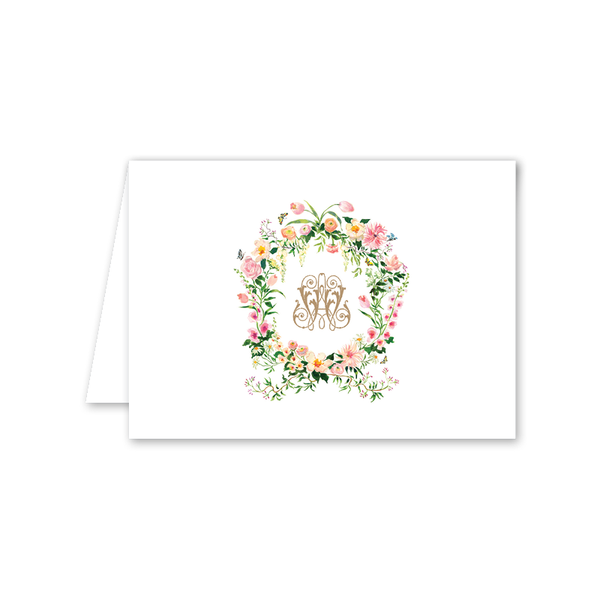 Verey Crest Folded Notecard