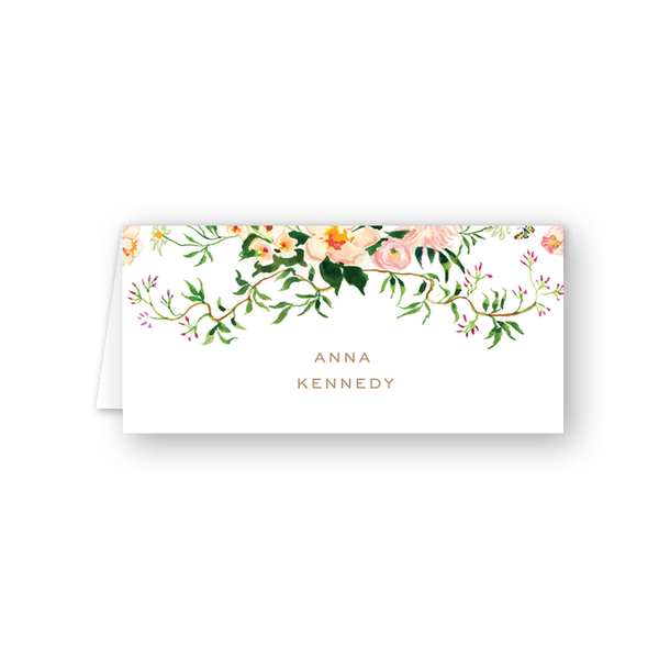 Verey Floral Place Card