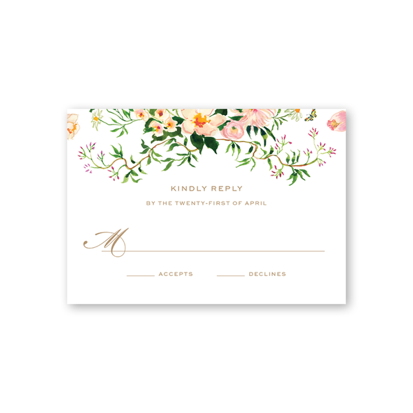 Verey Floral Reply Card