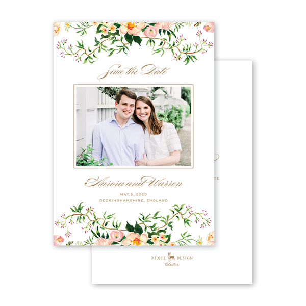 Verey Floral Photo Save The Date