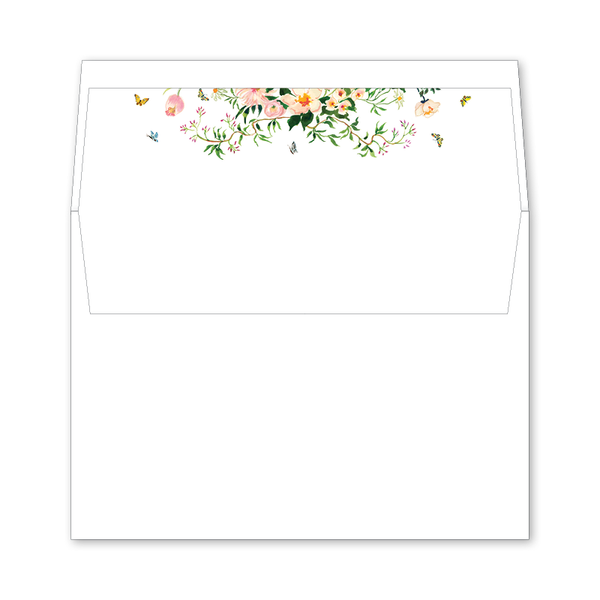 Verey Wedding Invitation Envelope Liner