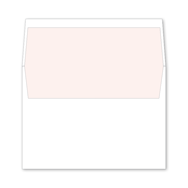 Verey Pink Wedding Invitation Envelope Liner