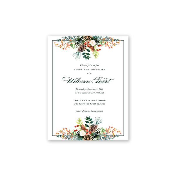 Winterberry Garland Details Cards