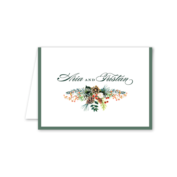 Winterberry Garland Folded Notecard