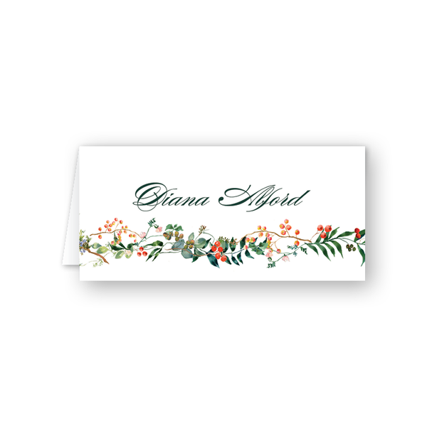 Winterberry Garland Place Card