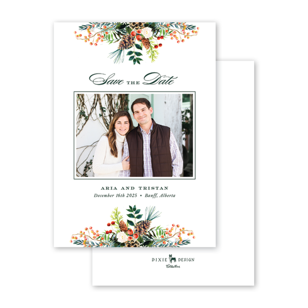 Winterberry Garland Photo Save The Date