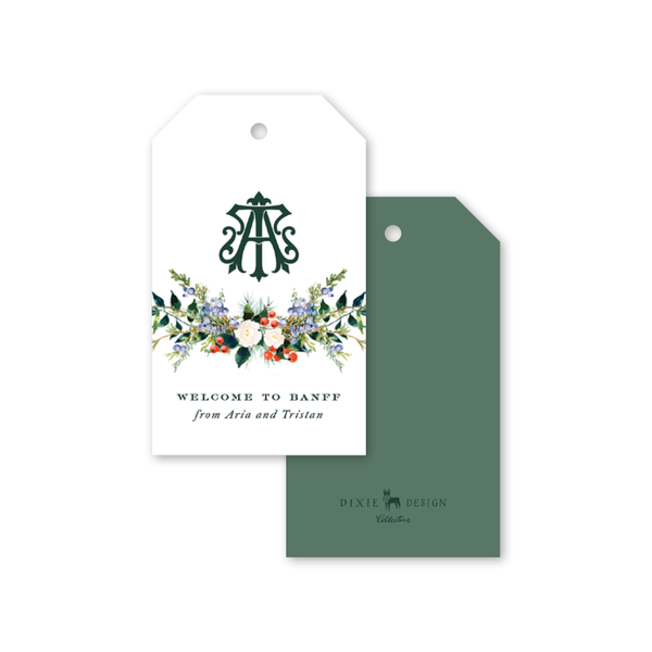 Winterberry Monogram Gift Tags