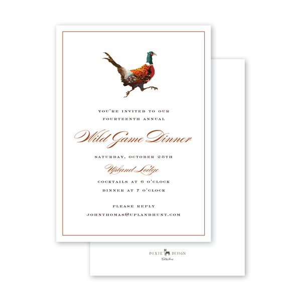 Festive Fowl Pheasant Invitation