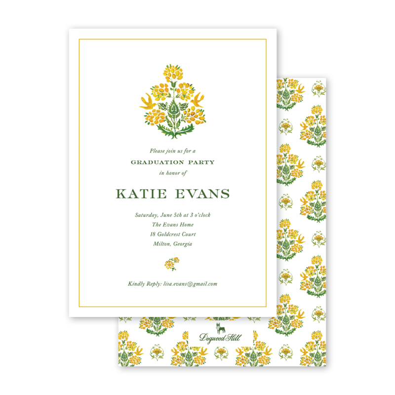 Gold Mystic Graduation Invitation