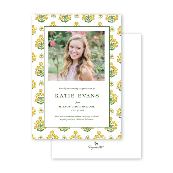 Gold Mystic Graduation Photo Announcement