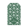 Green Flora Bow Gift Tags