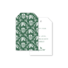 Green Flora Bow Pattern Gift Tags
