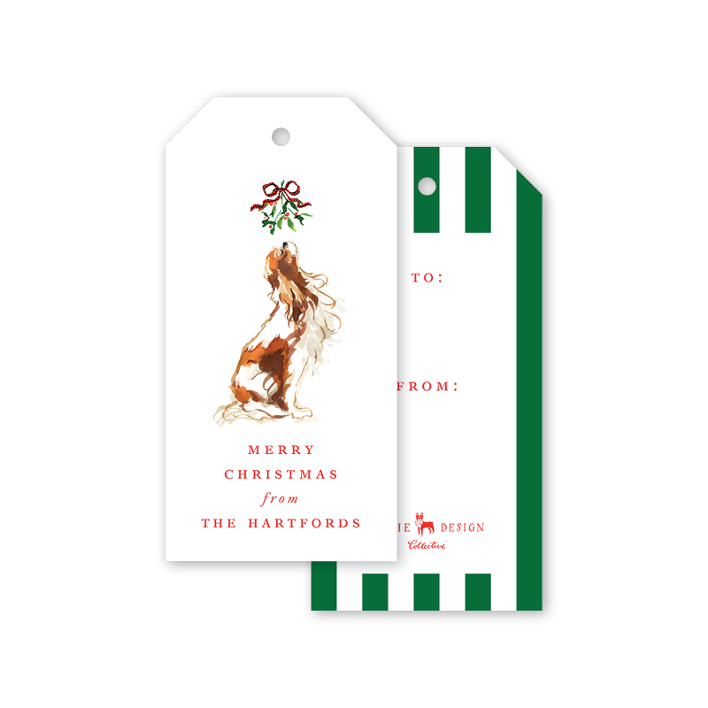 Mistletoe Dog Gift Tags