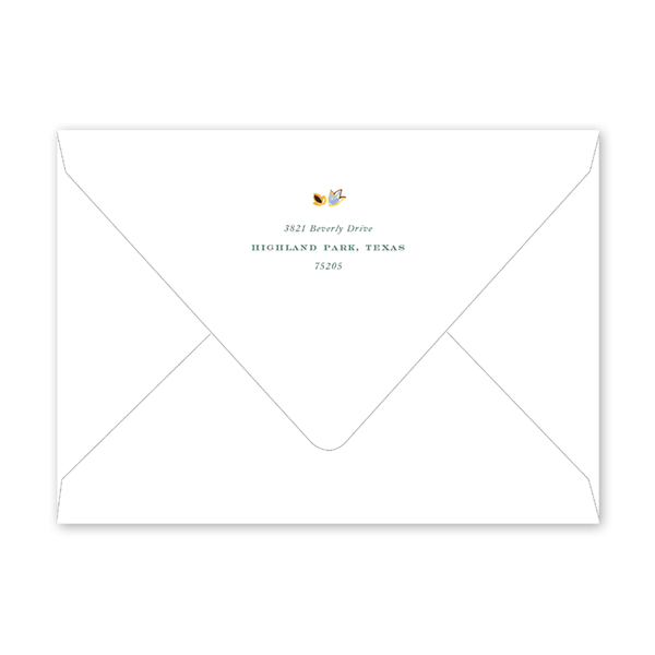 Oushak Green Invitation Envelopes