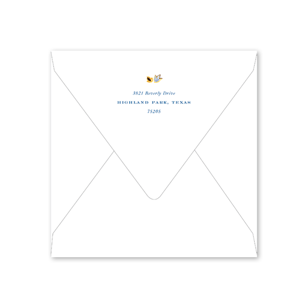 Oushak White Square Invitation Envelopes