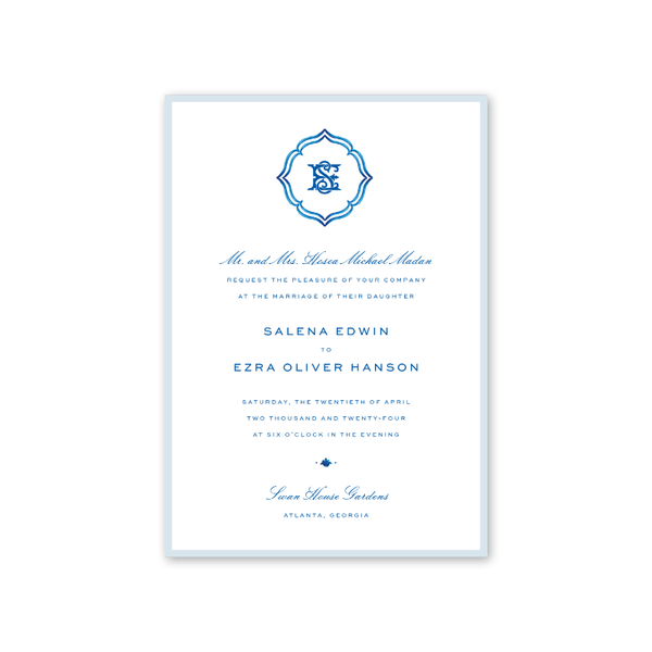 Palladio Border Wedding Invitation