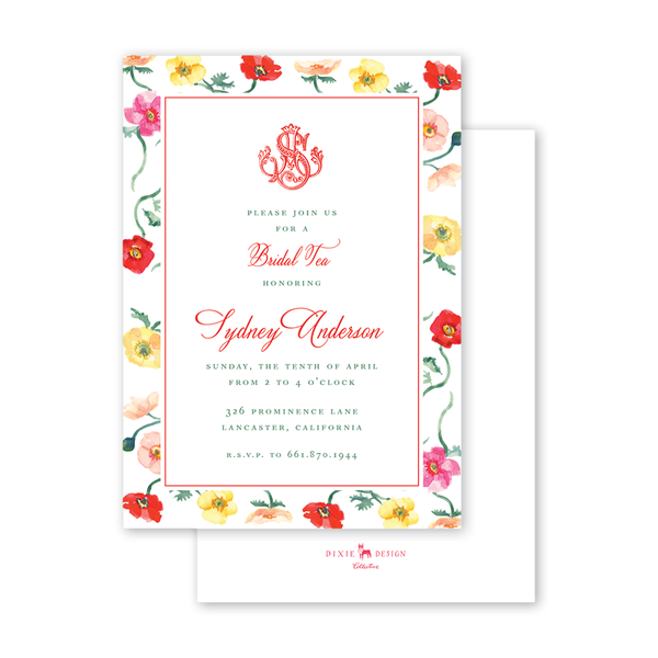 Poppies Bridal Tea