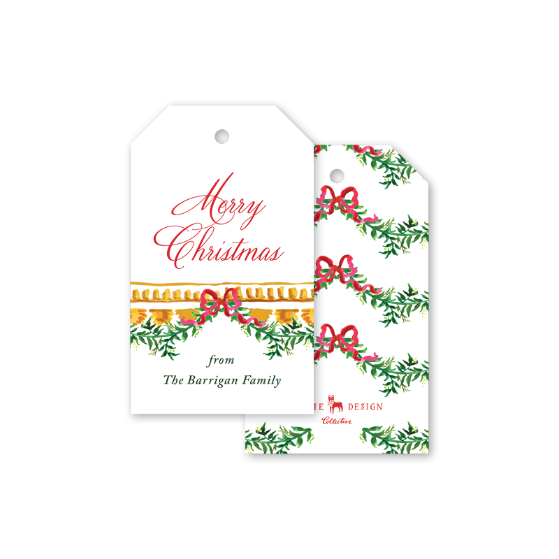 Vine and Bow Gift Tags
