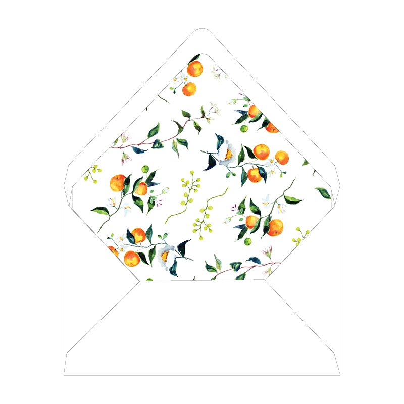 Winter Citrus Blue and White Christmas Landscape Liner