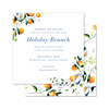 Winter Citrus Blue and White Invitation
