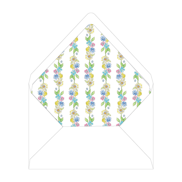 Camp Style Crest Birthday Floral Liner