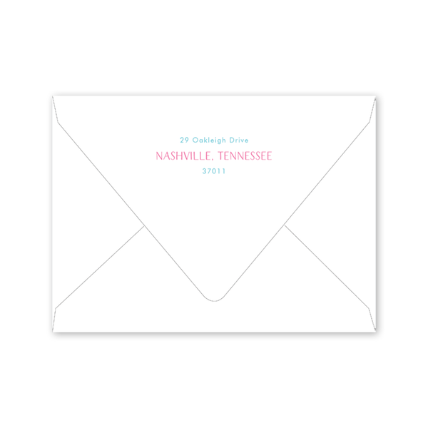 Camp Style Floral Birthday Envelopes