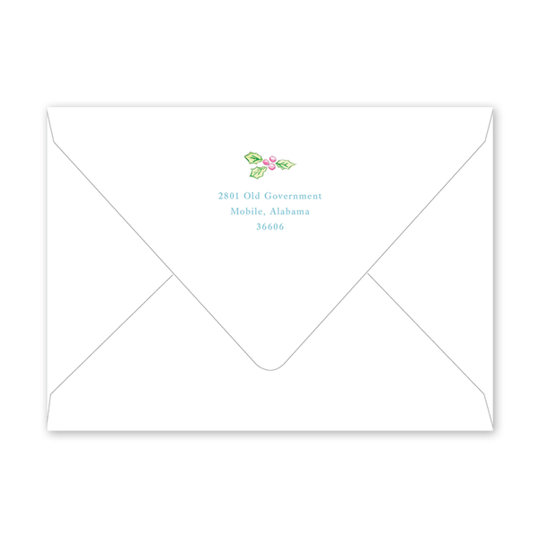 Baby Christmas Crest Blue Baby Shower Envelopes