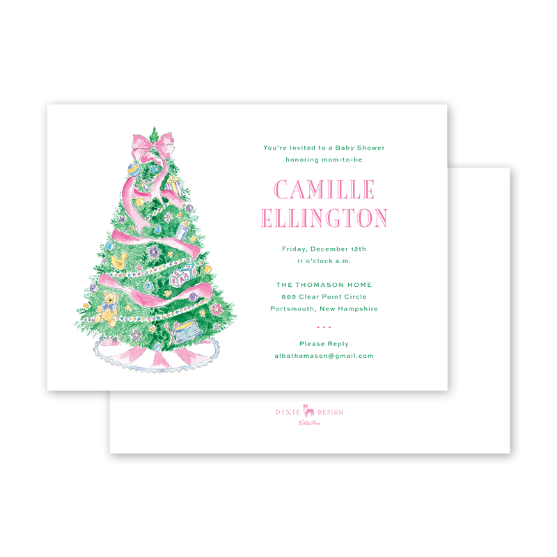 Baby's First Christmas Pink Baby Shower