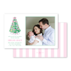 Baby's First Christmas Pink Birth Announcement