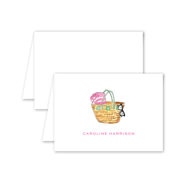 Cabana Bag Folded Notecard