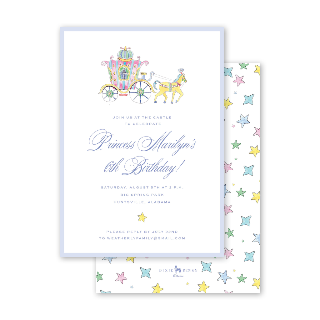 Fairytale Carriage Birthday