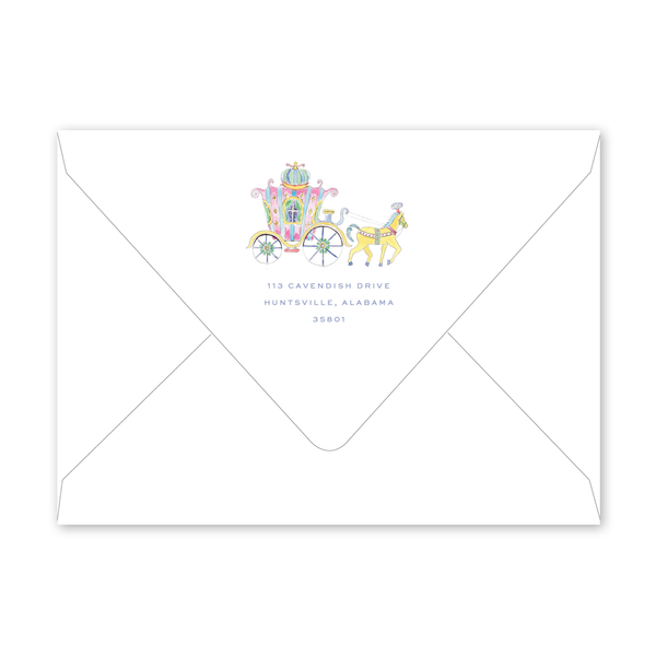 Fairytale Carriage Birthday Envelopes