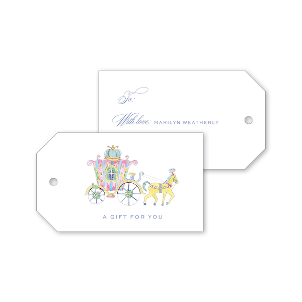 Fairytale Carriage Gift Tags