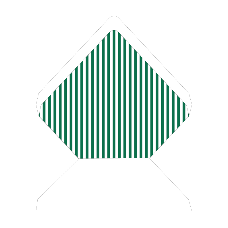 Nutcracker Crest Green Invitation Liner
