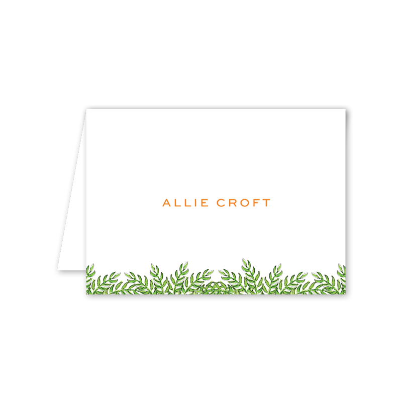 Palm Breeze Folded Notecard