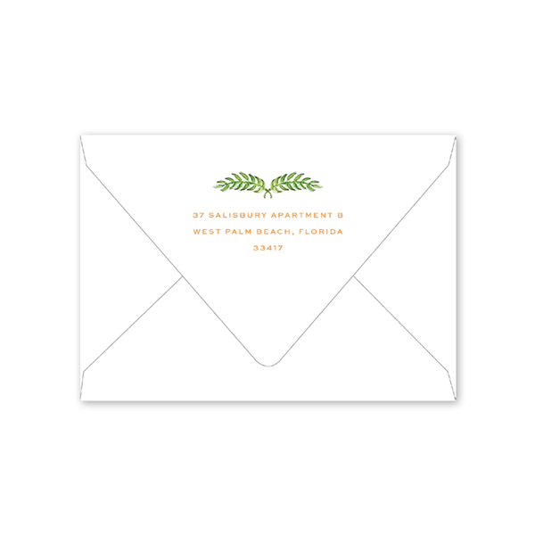 Palm Breeze Folded Notecard Envelopes