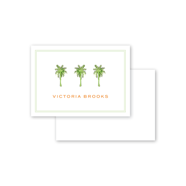 Palm Breeze Trees Calling Card