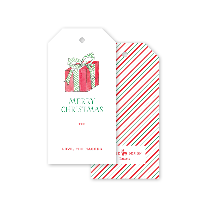 Santa Tote Package Gift Tags