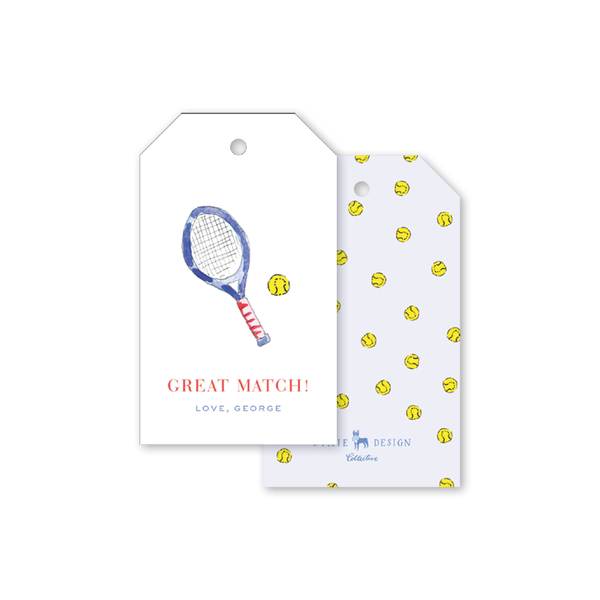 Tennis Blue Gift Tags