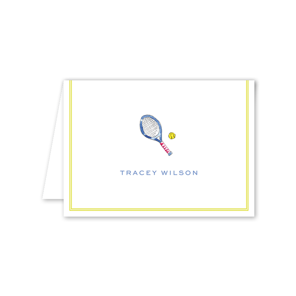 Tennis Folded Notecard