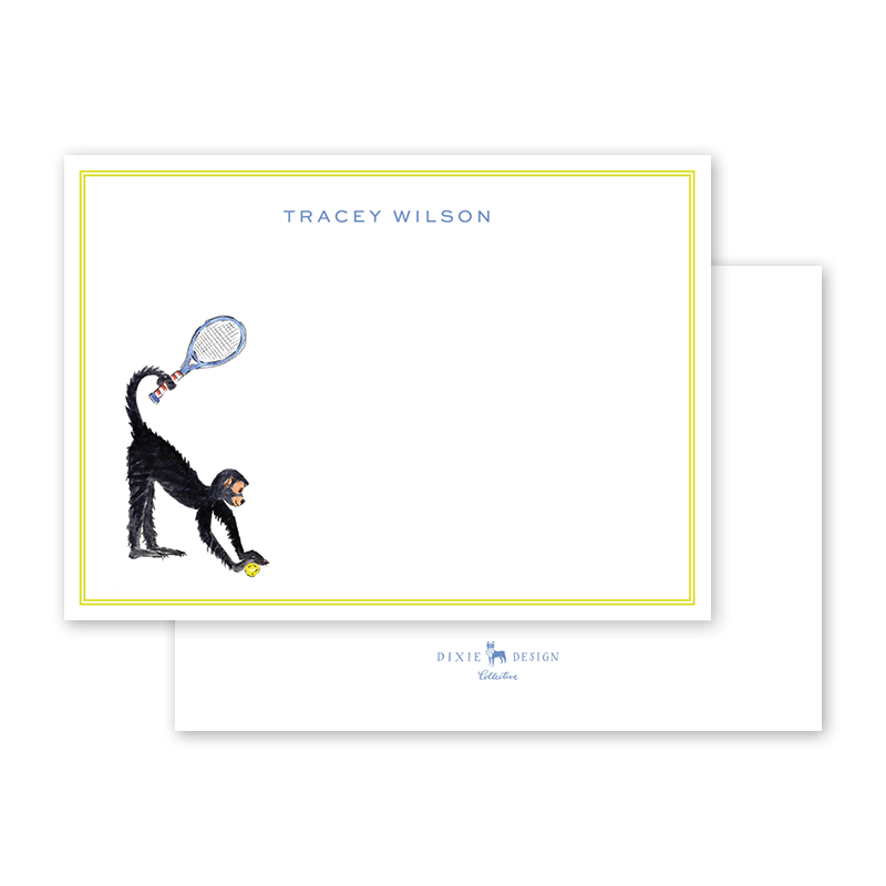 Tennis Monkey Notecard