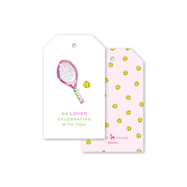Tennis Pink Gift Tags