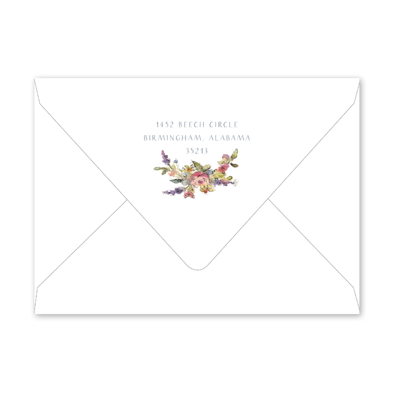 Baby Carriage Pink Birth Announcement Envelopes