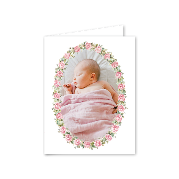 Baby Roses Birth Announcement