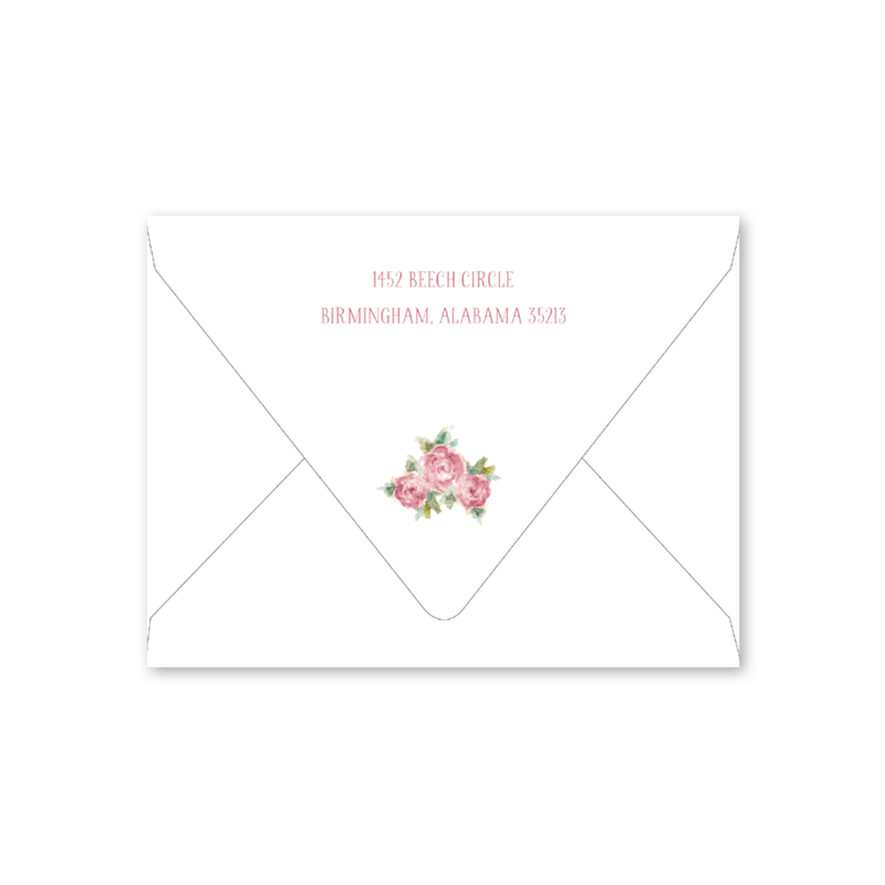Baby Roses Birth Announcement Envelopes